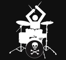 Stick Figure Drummer - T-Shirt by cpotter