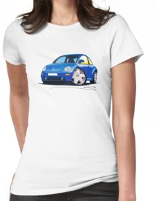 VW New Beetle Blue Womens Fitted T-Shirt