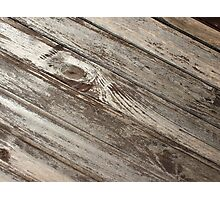 The surface of the old wooden planks brown Photographic Print