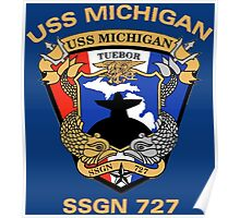 USS Michigan (SSGN-727) Crest for Dark Colors Poster