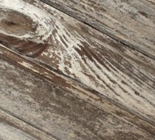 The surface of the old wooden planks brown Sticker