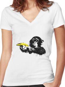 Bad Monkey Women's Fitted V-Neck T-Shirt