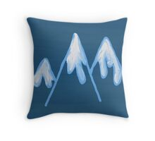 Oil - Mountain Graphic Throw Pillow