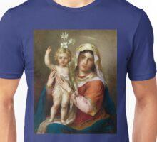 Virgin Mary Holy icon catholic art Unisex T-Shirt