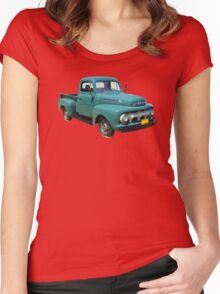 1951 ford F-1 Antique Pickup Truck Women's Fitted Scoop T-Shirt