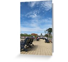 Swanage seafront Greeting Card