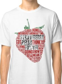 The Beatles - Strawberry Fields Forever Wordcloud Classic T-Shirt