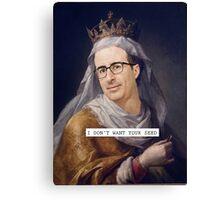 John Oliver - Saintly Celeb Canvas Print