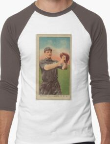 Benjamin K Edwards Collection Danzig Sacramento Team baseball card portrait Men's Baseball ¾ T-Shirt