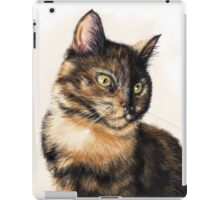 Miss Cat - Tortoiseshell Cat Painting iPad Case/Skin