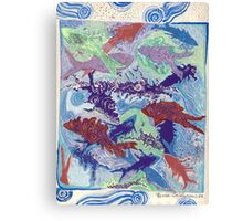 MULTI KULTI FISH  Canvas Print