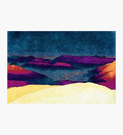 Colorful Mountains Landscape Photographic Print