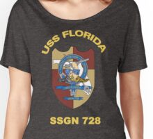 USS Florida SSGN-728 Crest for Dark Colors Women's Relaxed Fit T-Shirt