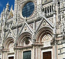 The West Facade Of Siena Cathedral by Fara