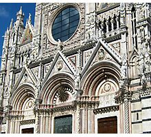 The West Facade Of Siena Cathedral Photographic Print