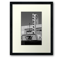 Miles City, Montana - Theater Marquee Framed Print
