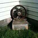 Ford Model A Wheel on Bee-keeper's Box by Rodney Johnson