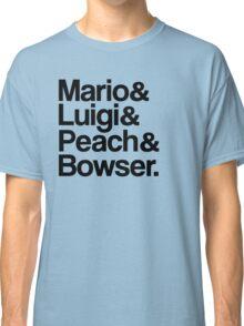 Mario & Luigi & Peach & Bowser - Black Classic T-Shirt