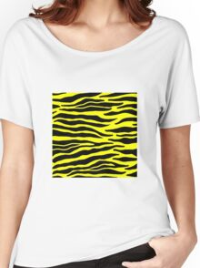 Tiger Print - Yellow Women's Relaxed Fit T-Shirt