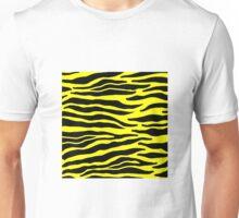 Tiger Print - Yellow Unisex T-Shirt