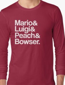 Mario & Luigi & Peach & Bowser - White Long Sleeve T-Shirt