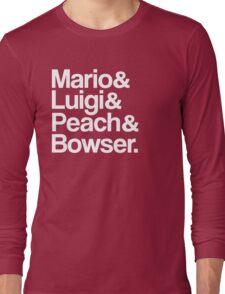 Mario & Luigi & Peach & Bowser - White Long Sleeve T-Shirt