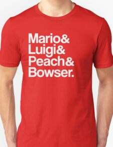 Mario & Luigi & Peach & Bowser - White T-Shirt