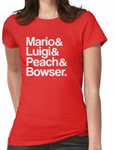 Mario & Luigi & Peach & Bowser - White Womens Fitted T-Shirt