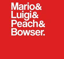 Mario & Luigi & Peach & Bowser - White Unisex T-Shirt