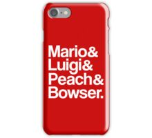 Mario & Luigi & Peach & Bowser - White iPhone Case/Skin