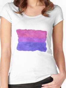 Bisexual Pride Flag Women's Fitted Scoop T-Shirt
