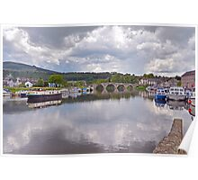 The River Barrow at Graiguenamanagh Poster