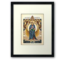 Auspice Maria - Mary Nouveau Framed Print