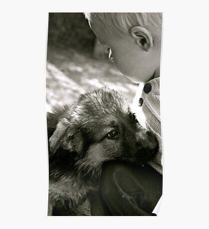 The Bond (puppy&child) Poster
