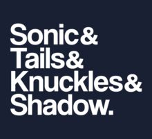 Sonic & Tails & Knuckles & Shadow - White by ScottW93