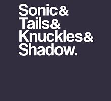 Sonic & Tails & Knuckles & Shadow - White Unisex T-Shirt