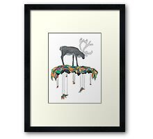 Reindeer colors Framed Print