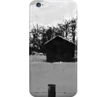 Little Shacks In The Winter - Digital Oil iPhone Case/Skin