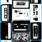 Retro Cassette Tapes in Black & White by HighDesign