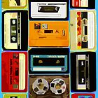 Retro Cassette Tapes in Color by HighDesign