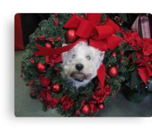 Westie Wreath Canvas Print