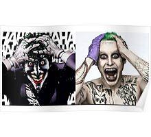 joker vs, jared leto Poster