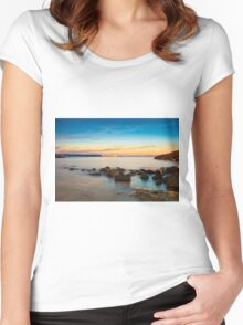 Rocks in a row at Anadolufeneri Bay Women's Fitted Scoop T-Shirt