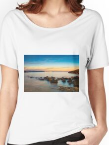 Rocks in a row at Anadolufeneri Bay Women's Relaxed Fit T-Shirt