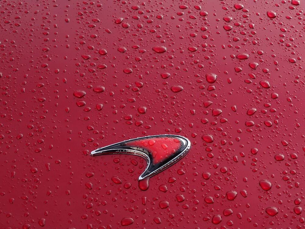 Red on Red Mclaren Badge by redlineviper