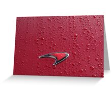 Red on Red Mclaren Badge Greeting Card