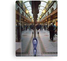 Reflection in Queens Arcade  Canvas Print