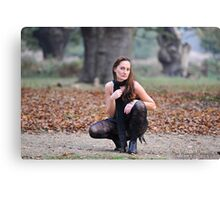 ... Crouching tiger, white knickers Canvas Print