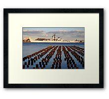 Battleship New Jersey Framed Print