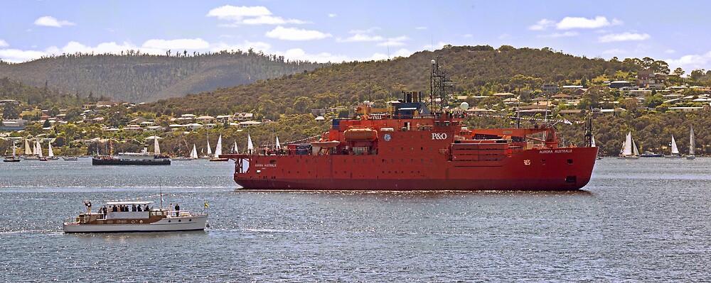 Aurora Australis leads the Mawson Centenary Flotilla by TonyCrehan